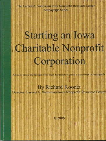 Starting Iowa Charitable Nonprofit Corporation