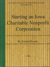 Starting Iowa Charitable Nonprofit Corporation