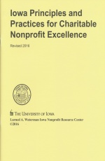 Iowa Principles and Practices for Charitable Nonprofit Excellence Cover